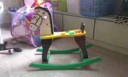 wooden toy horse for sale.. very barely used..suitable