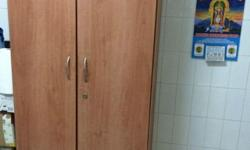 Wooden wardrobe for sale. 2 shelf and 2 drawer