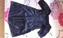 Worn Once Black Satin Dress (fits S-M size) letting go