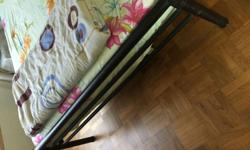 Used Wrought Iron Bed Frame For Sale @ 30/-. Very