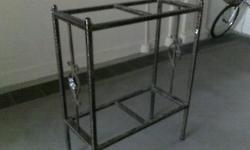 "WROUGHT IRON FISH TANK STAND in good condition 30"" x"