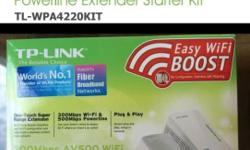 One set hardly used TP-Link AV500 300Mbps WiFi