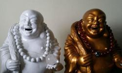 One set of laughing Buddha make by ç´«ç �14 x 8 ins. Is