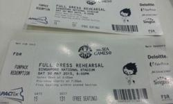 2 tickets for Sea Games full dress rehearsal