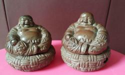 A set of cute ç´«ç � laughing Buddha.