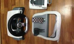 X Box 360 Force Feedback Driving Wheel. Pedals inc
