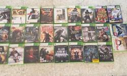 Used XBox 360 with HDD, 32 Games, 4 controllers with 2