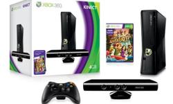 Xbox 360 4GB Console with Kinect, 2 Controllers, 10