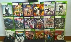 Selling our Xbox 360 bundle including Kinect, 20 Games,
