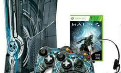 Halo 4 edition xbox 360 console c/w original 2 wireless