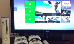 - White Xbox 360 20GB HDD (component output, not HDMI)