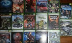 1) Xbox console (1st gen) and games: -Halo 1 $30 -Halo