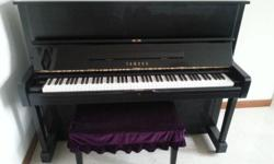 YAMAHA Upright U1 piano, black colour, made in Japan,