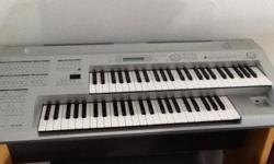Used Yamaha Electone with chair. About 3 years old.