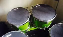 Yamaha Gigmaker Drum set in Green. Description: 22""