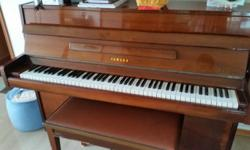 It's an antique yamaha piano, brown. A good price for