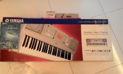 Used Yamaha PSR-E303 in good condition. Ideal for