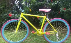 "Yellow Fixie Bike / For Teenager & Adult 5'3"" - 5'11"""