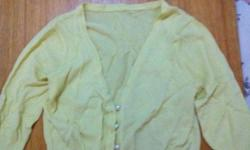 Cute Yellow Pearl Sweater at $10 only! Like new :)