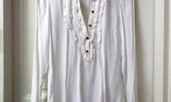 Beautiful Ruffles White Blouse from ZARA. Size M. In