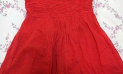 A lovely ZARA Orange Dress at $10 only! Like new :)