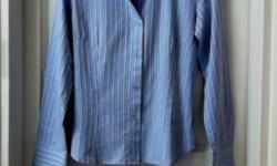 Smart Looking Blue Striped Shirt from ZARA. Size EUR M.