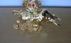 Gold Plated Bull Zodiac. Measurement : Length 4 inches